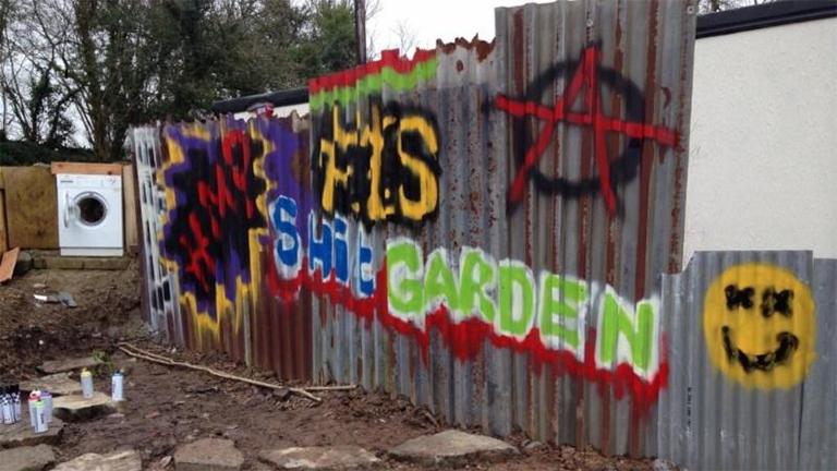 The 'shit' garden at LandWorks