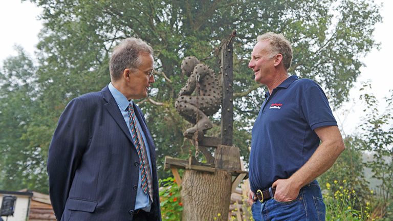 LandWorks Project Manager Chris Parsons (right) in conversation with HM Chief Inspector of Prisons, Nick Hardwick