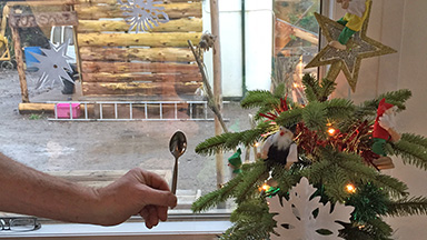 LandWorks' miniature Christmas tree