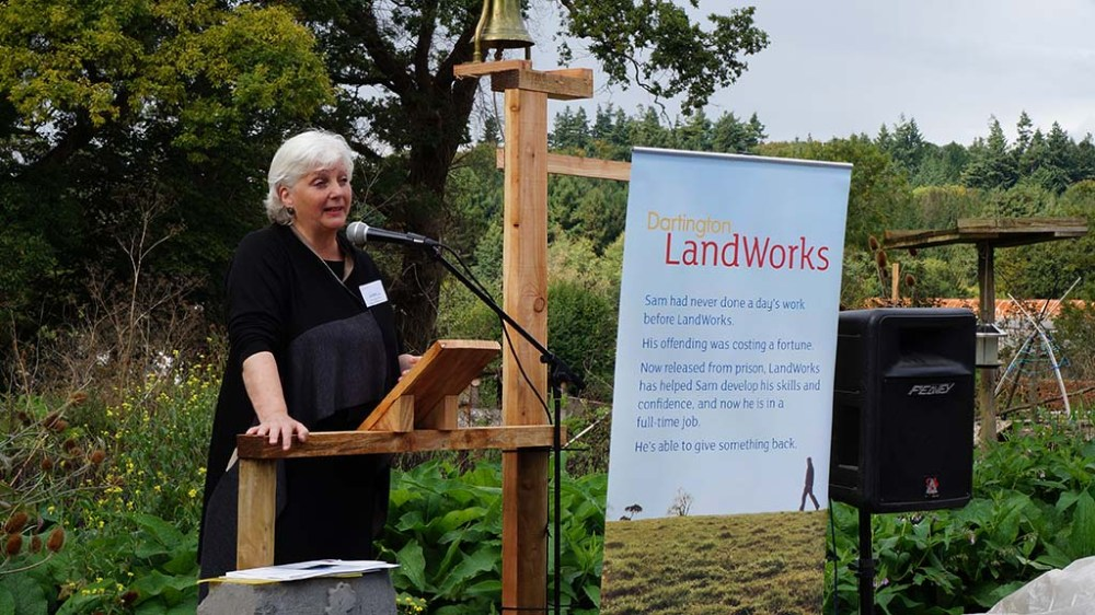 Director of the Prison Reform Trust, Juliet Lyon CBE, addresses LandWorks supporters