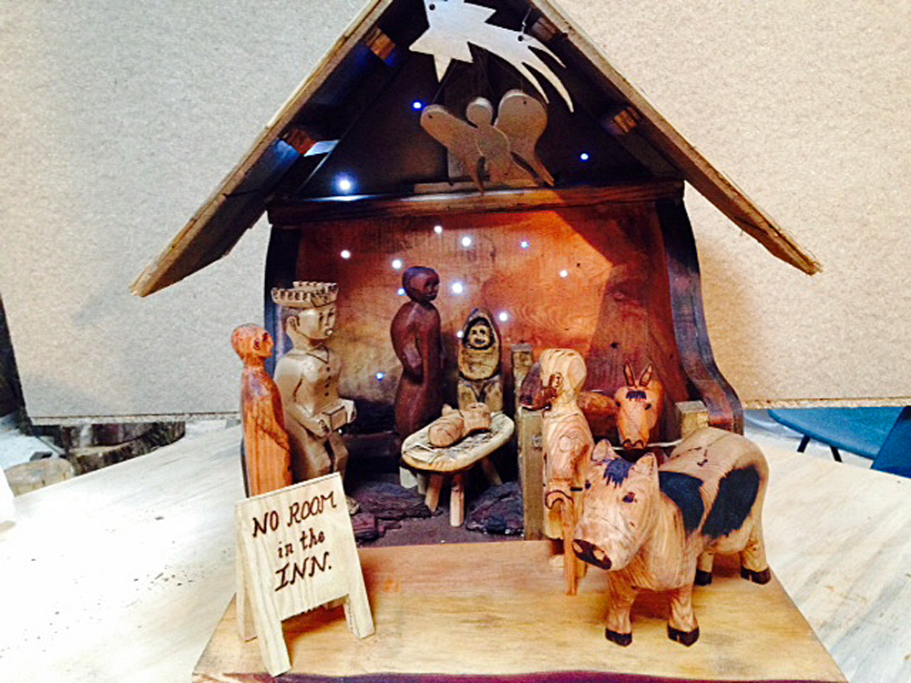 LandWorks trainee Harry's Nativity scene