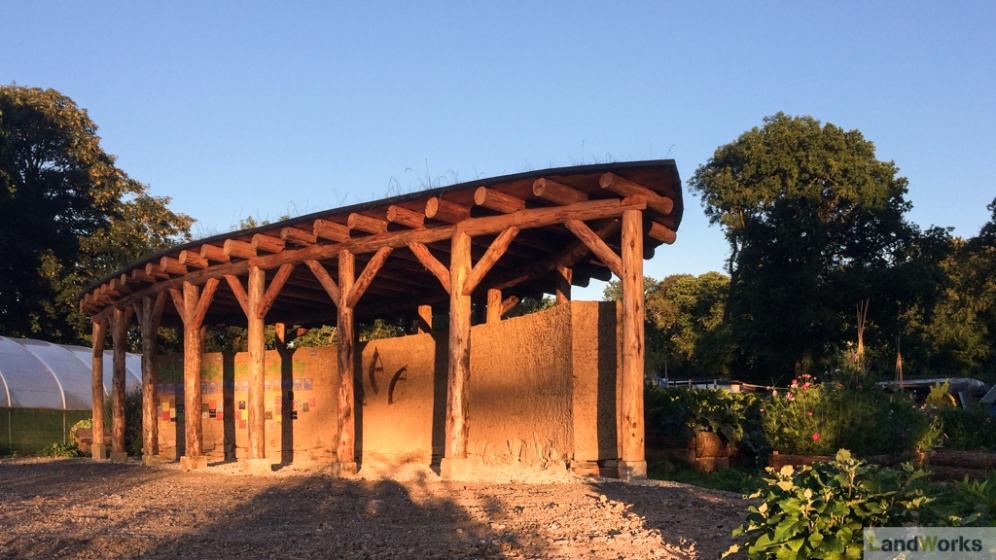 LandWorks TimeLine cob and timber sculpture