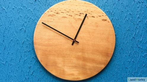 Clock 55cm diatmeter handmade at LandWorks