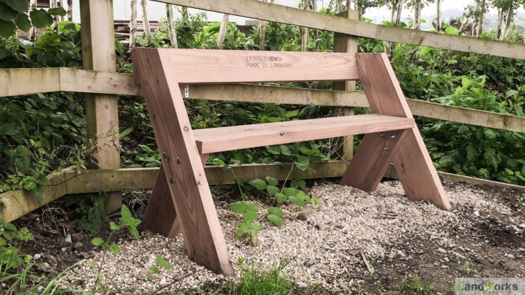 Leopold bench handmade at LandWorks