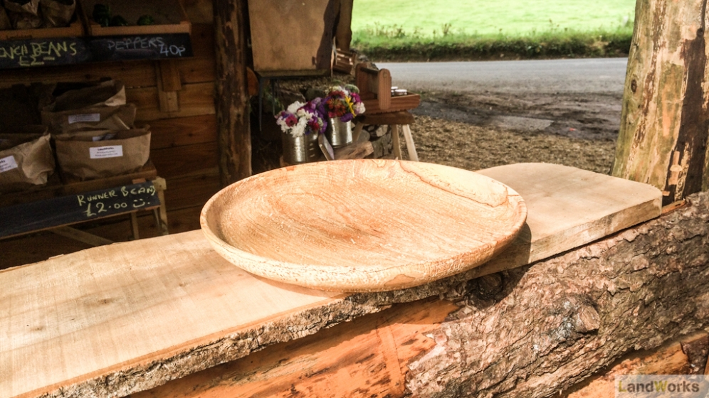 Large wooden plate handmade at LandWorks