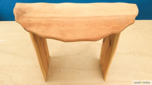 Curvy edge side table handmade at LandWorks