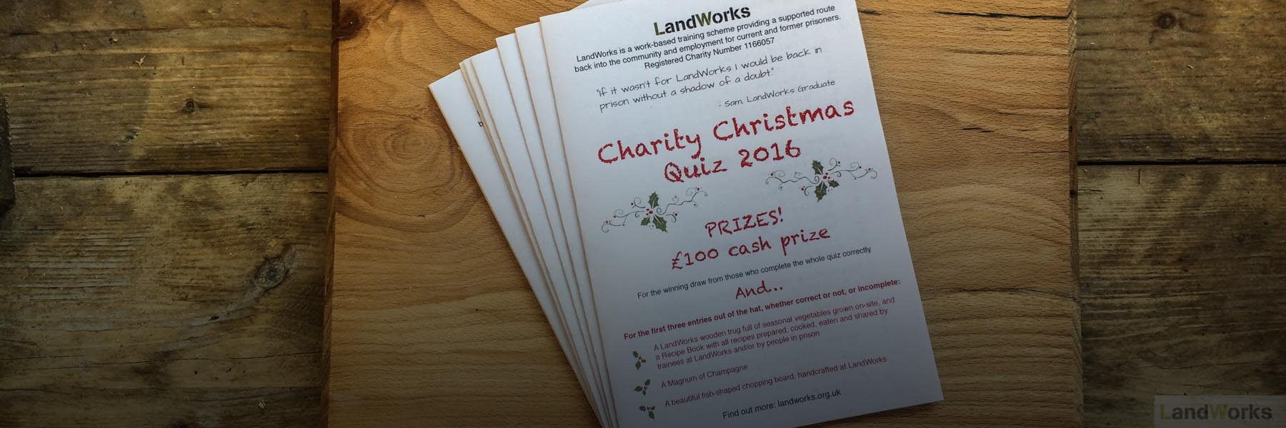 LandWorks Charity Christmas Quiz Puzzle