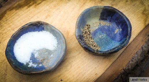 Handmade salt and pepper pinch pots