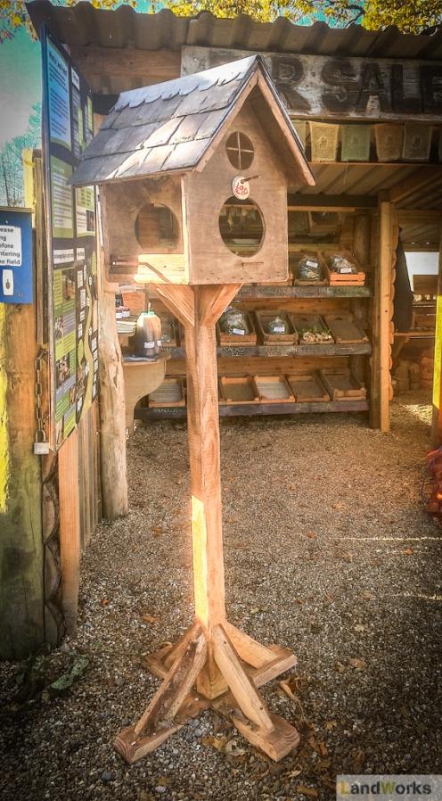 Handmade wooden birdhouses
